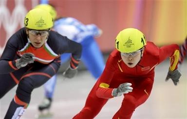 图文-短道速滑女子500米复赛王�鹘艚羰刈∠呗�