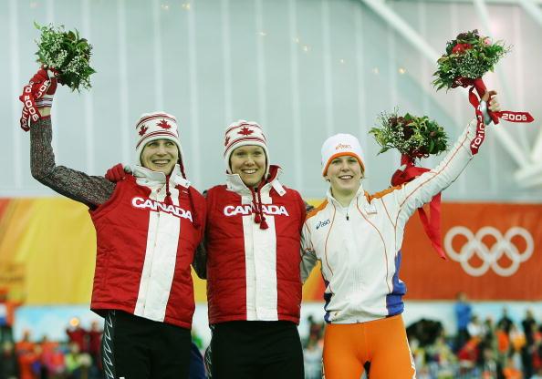 图文-冬奥颁奖图大全速度滑冰女子1500米克拉森夺冠