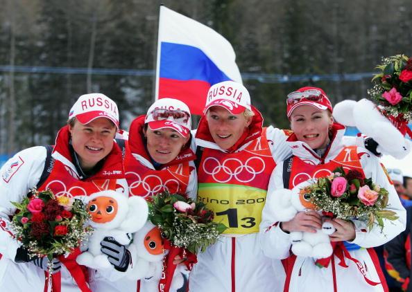 图文-冬季两项女子4x6公里接力赛俄罗斯的美少女