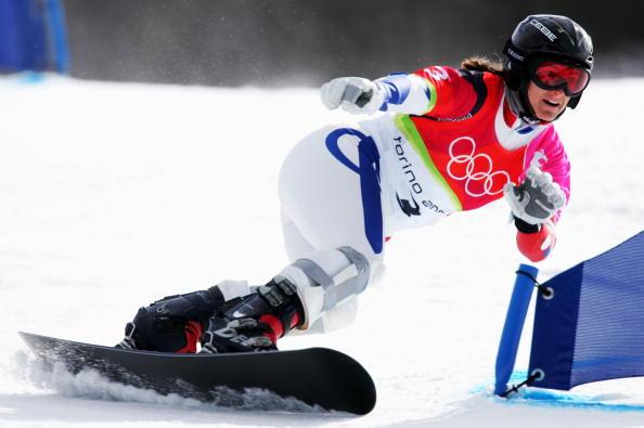 图文-单板滑雪女子平行大回转太极推手能过关