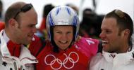 图文-单板滑雪女子平行大回转瑞士队喜出望外