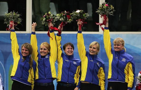 图文-冬奥颁奖图大全女子冰壶决赛瑞典队夺冠