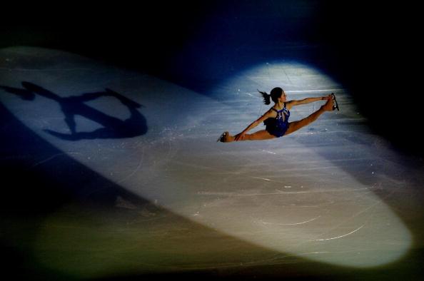 图文-女子单人滑表演亦真亦幻科恩空中施展招术
