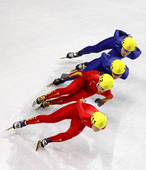 图文-短道速滑女子1000米决赛王�餮钛锟�局不错