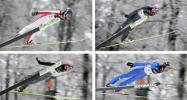 图文-冬奥会合成图片特辑跳台滑雪奥地利4选手对比