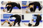 图文-冬奥会合成图片特辑双人滑法国组合跌倒回放