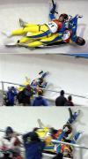 图文-冬奥会合成图片特辑冰橇乌克兰组合撞墙回放