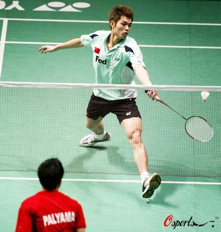 图文-羽毛球大师赛男单激战林丹淘汰对手网前出击