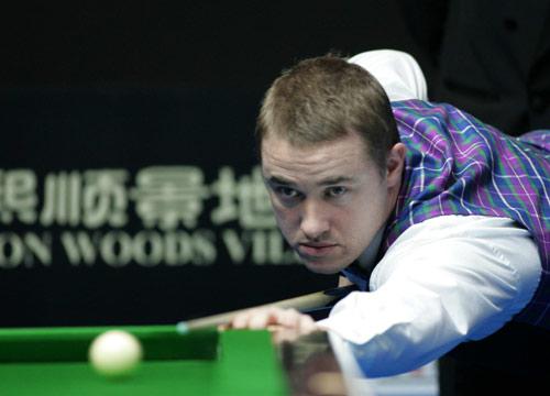 图文-斯诺克中国赛第五日赛况亨德利击球不顺