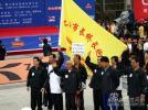 图文-厦门国际马拉松赛场上海八旬老翁不服老