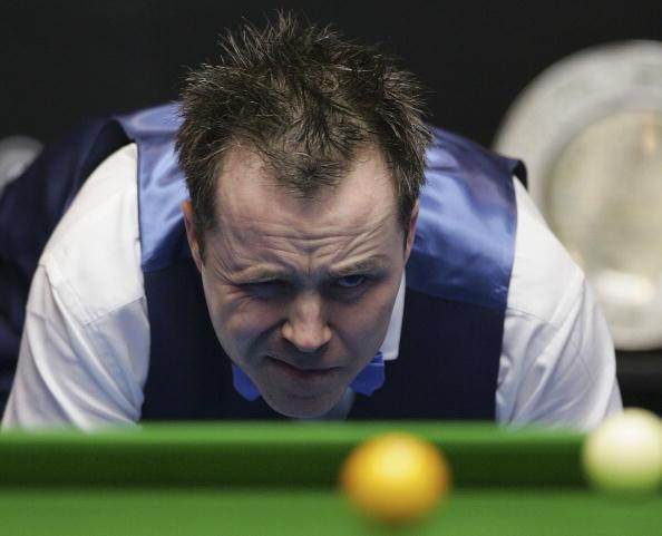 图文-斯诺克中国赛决赛赛况 希金斯寻找突破口