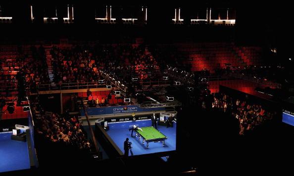 图文-斯诺克中国赛决赛赛况比赛现场全景鸟瞰