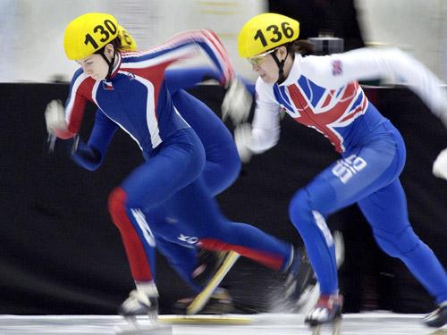 图文-短道速滑世锦赛500米预赛诺沃特起跑如风