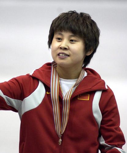 图文-短道世锦赛女子500米决赛王�骱缆醮笃�