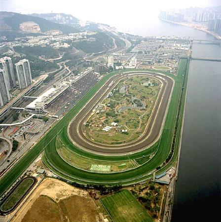 香港赛马会亲身探奇历程 赛马场俯瞰景观图片
