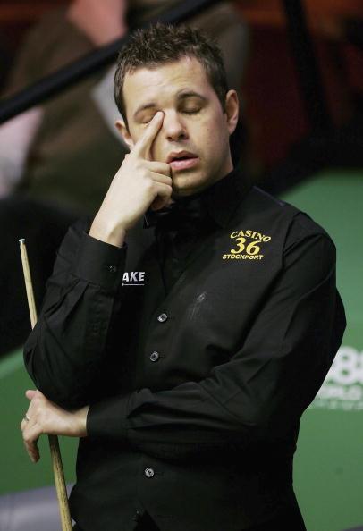 图文-斯诺克世锦赛第三日霍金斯这次神奇不在