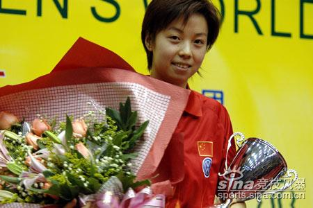 图文-张怡宁职业生涯经典回顾四夺世界杯第一人