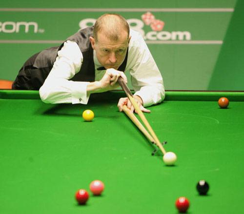 图文-斯诺克世锦赛第八日戴维斯不敌卫冕冠军