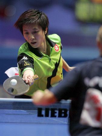 世乒赛女团第四轮激战林菱轻挑对手空档
