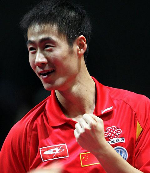 世乒赛中国男团三连冠王励勤力克柳承敏