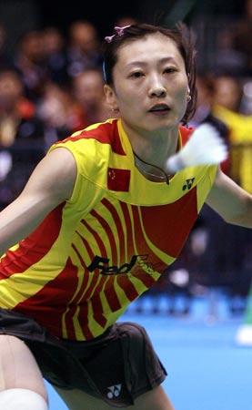 图文-尤杯中国完胜德国进决赛张宁专注迎球而击
