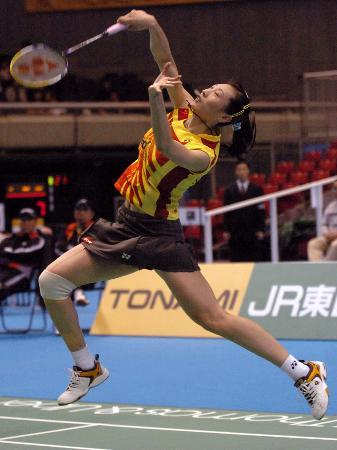 图文-中国女队晋级尤杯决赛老将张宁取得开门红