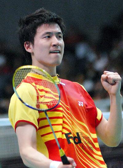 图文-汤杯半决赛中国3-0印尼蔡�S庆祝得分