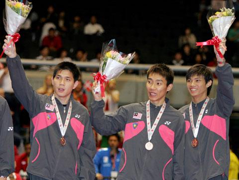 图文-中国男队六夺汤姆斯杯马来西亚队并列第三