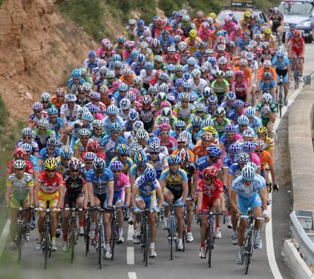 加泰罗尼亚自行车赛第四赛段 大军浩浩荡荡_综
