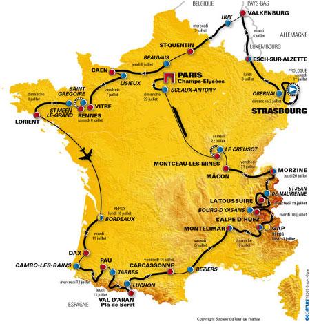 图文-2006环法自行车赛3657公里完全线路展示