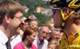 图文-环法自行车赛第四赛段比利时总理祝福布南
