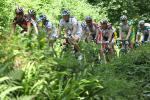 图文-环法自行车赛第四赛段环法赛道边山间风景怡人