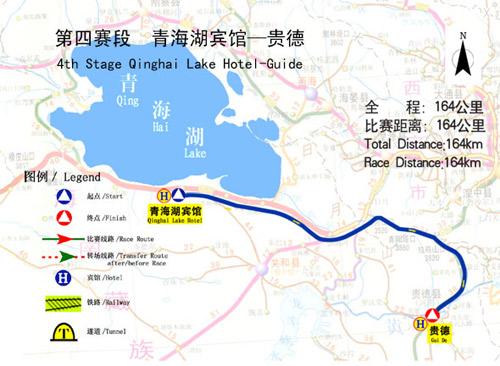 图文-2006环青海湖自行车赛线路图第四赛段