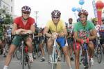 图文-环青海湖自行车赛第五赛段三巨头气势挺足