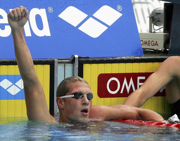 图文-欧洲游泳锦标赛第四日普里鲁科夫胜利欢呼