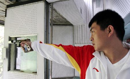 图文-射击亚运选拔男子25米手枪速射刘忠生入选