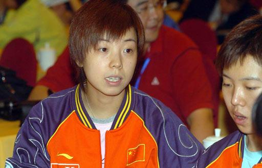 图文-女乒世界杯分组抽签张怡宁相信自己能夺冠