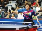 图文-女乒世界杯郭焱全胜进8强郭焱回球势大力沉