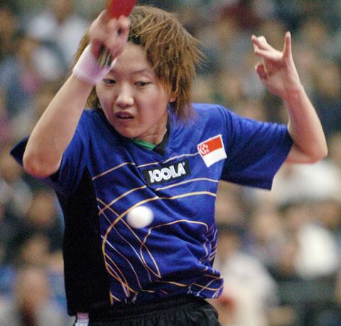 图文-女乒世界杯产生四强李佳薇险胜金景娥
