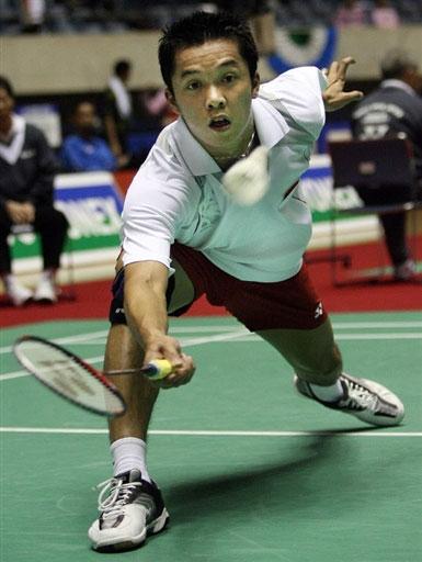 图文-日本羽球赛激战正酣陶菲克走出世锦赛阴影