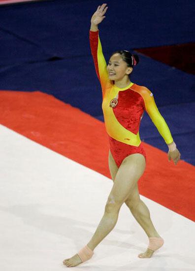 图文-体操世锦赛女子团体决赛张楠为中国锁定胜利