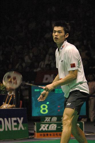 图文-中羽赛鲍春来晋级决赛超级丹也有累的时候
