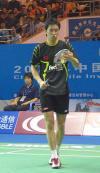 图文-羽球世界杯男单决赛陈郁稍做调整再上阵