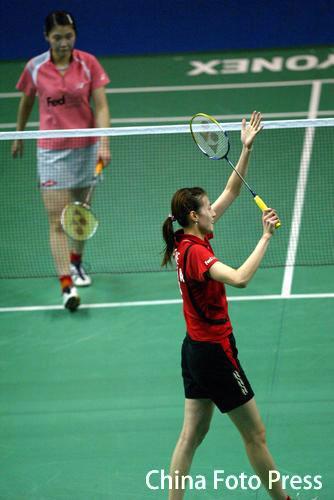 图文-羽毛球世界杯半决赛赛况谢杏芳上演逆转