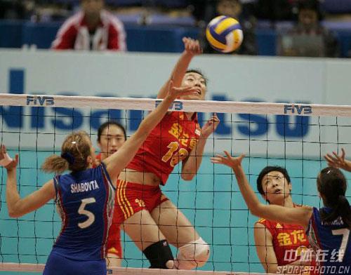 图文-女排世锦赛中国VS阿塞拜疆张萍快攻灵光乍现