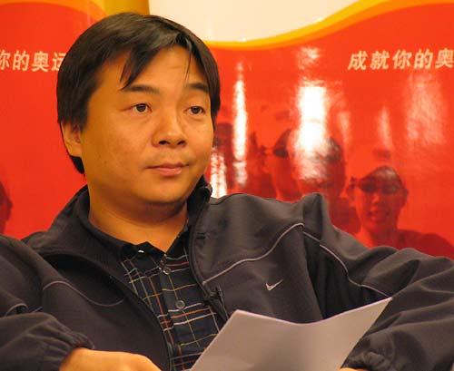 图文-奥运舵手网络选拔揭幕 奥运舵手制片人朱波