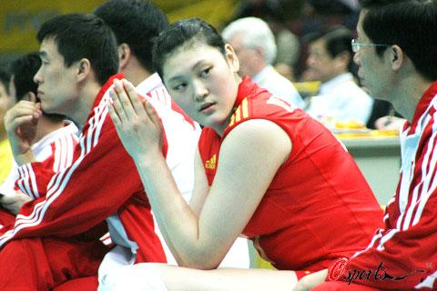 图文-女排世锦赛中国VS荷兰王一梅无心回望