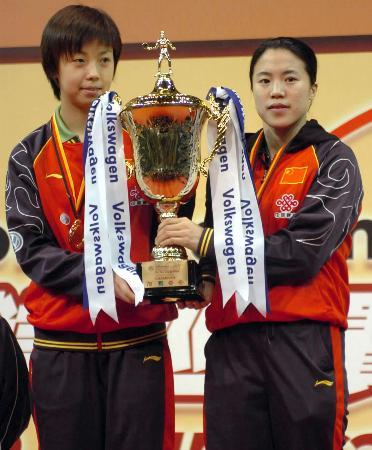 图文-2006职业乒乓球巡回赛总决赛王楠张怡宁夺冠