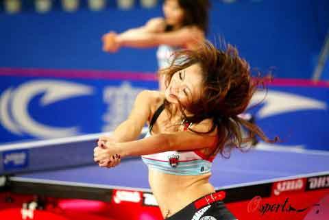 图文-国球大典乒乓宝贝的热舞表演宝贝的热辣舞蹈