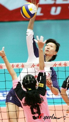 图文-女排联赛天津3比0胜南京李珊发威难阻挡
